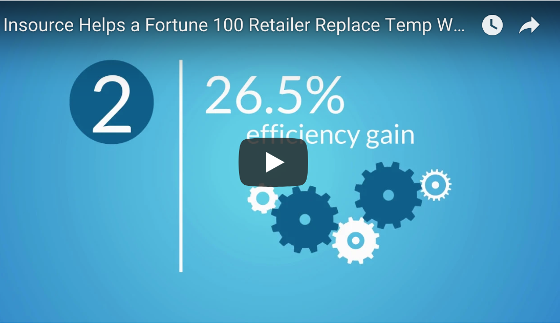 Insource Helps Fortune 100 Retailer Replace Temp Workers (Video)