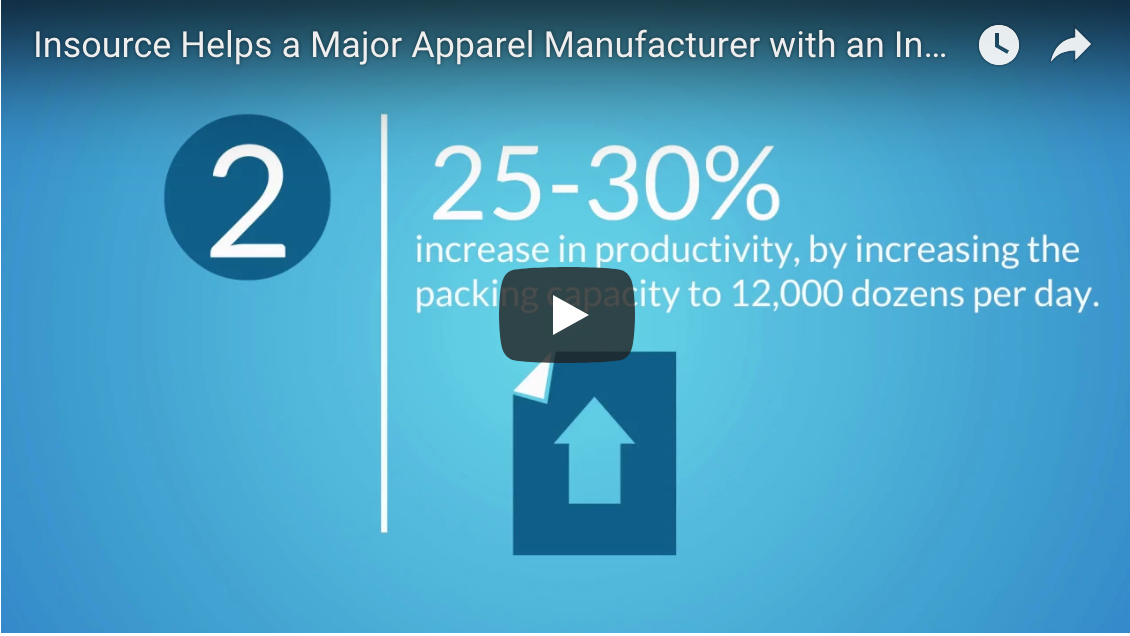 Video: Apparel Manufacturer with an Increase in Import Products